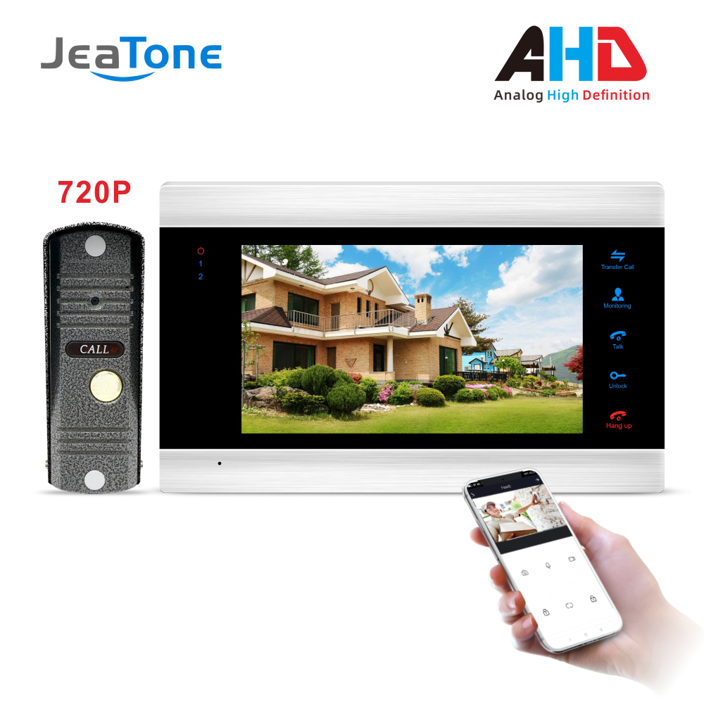 New 7 Inch WiFi Smart Video Door Phone Intercom System with 720P AHD Wired Doorbell Camera Home Security Support Remote Record&Unlock