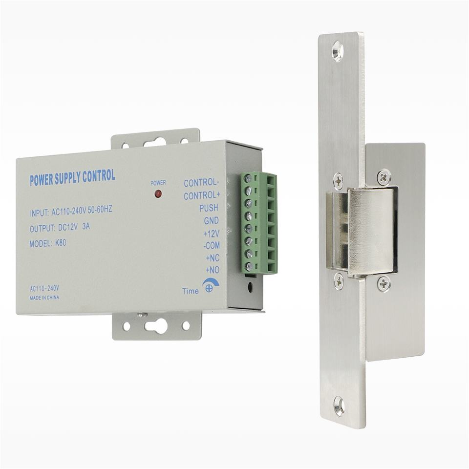 Electric Lock Narrow Type Electric Door Lock with Power Supply Control for different Door NC Mode Fail Safe Access