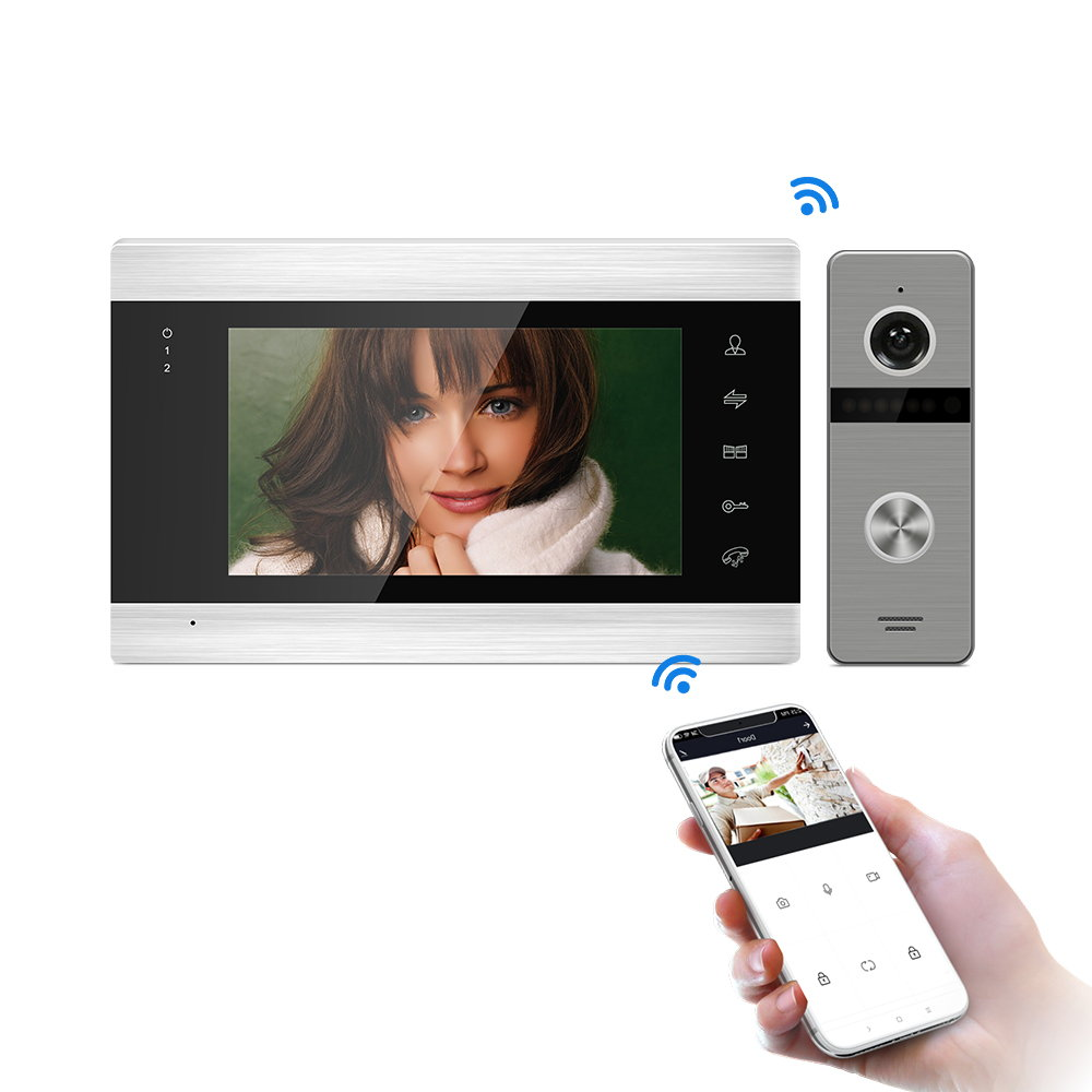 Tuya Smart App Remote Control IP Video Door Phone WiFi Video Intercom Multi-Apartments Security Access Control System