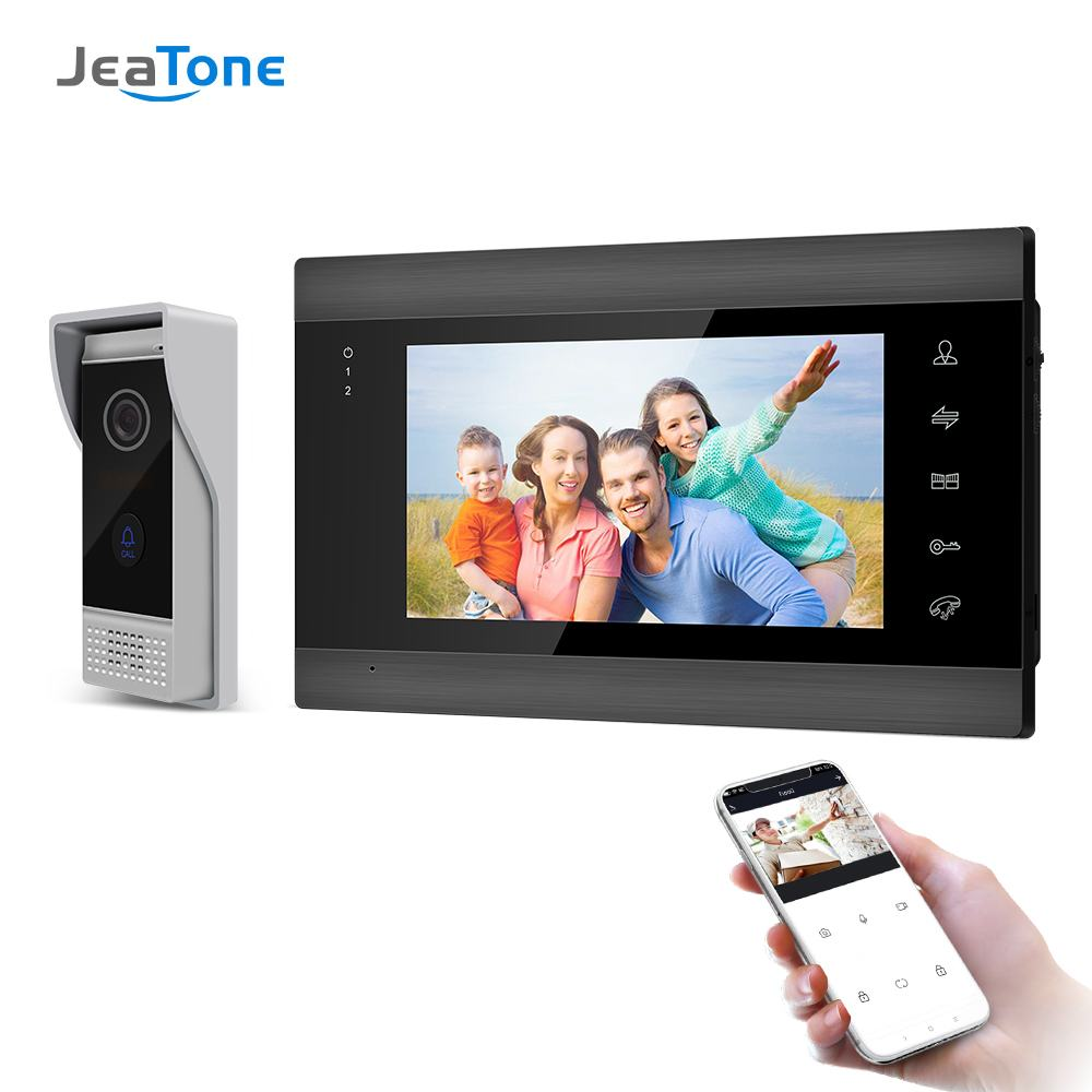 7inch Wireless Wifi Video Intercom System for Home Video Intercom Support Remote Unlock,Motion Detect Record Door Camera